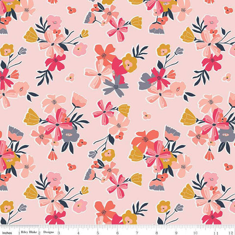 Riley Blake Golden Aster - Main Pink - 100% Cotton Fabric