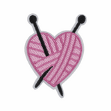 Knitted Heart Motif
