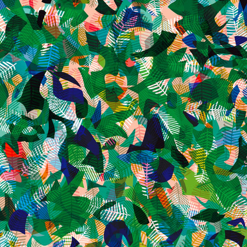 Dashwood Circle Line Paper Jungle Rayon Fabric