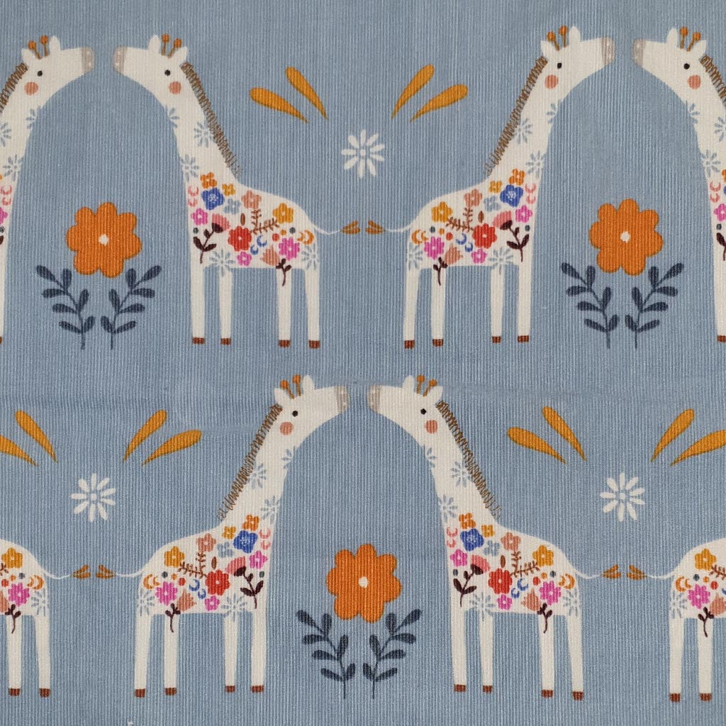 Dashwood Meadow Safari - Giraffes - Corduroy Fabric