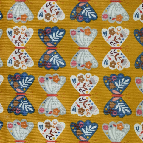 Dashwood Meadow Safari - Butterflies - Corduroy Fabric