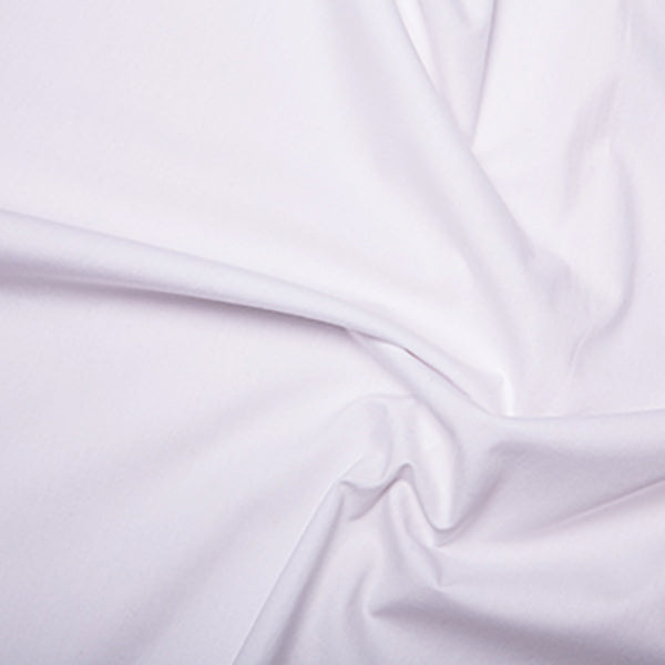 Plain White Cotton Poplin Fabric