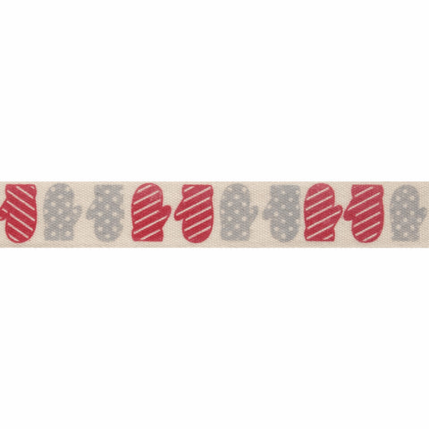 15mm Mittens Christmas Ribbon