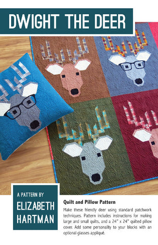 Elizabeth Hartman Quilt Pattern - Dwight the Deer