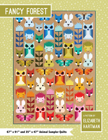 Elizabeth Hartman Quilt Pattern Book - Fancy Forest