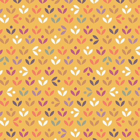 Dashwood Elinor - Topiary Mustard  - 100% Cotton Fabric
