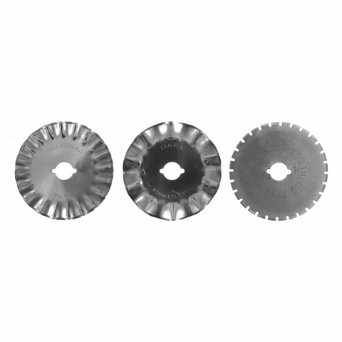 Sew Easy 45mm Pinking, Skip and Wave Rotary Blade Set
