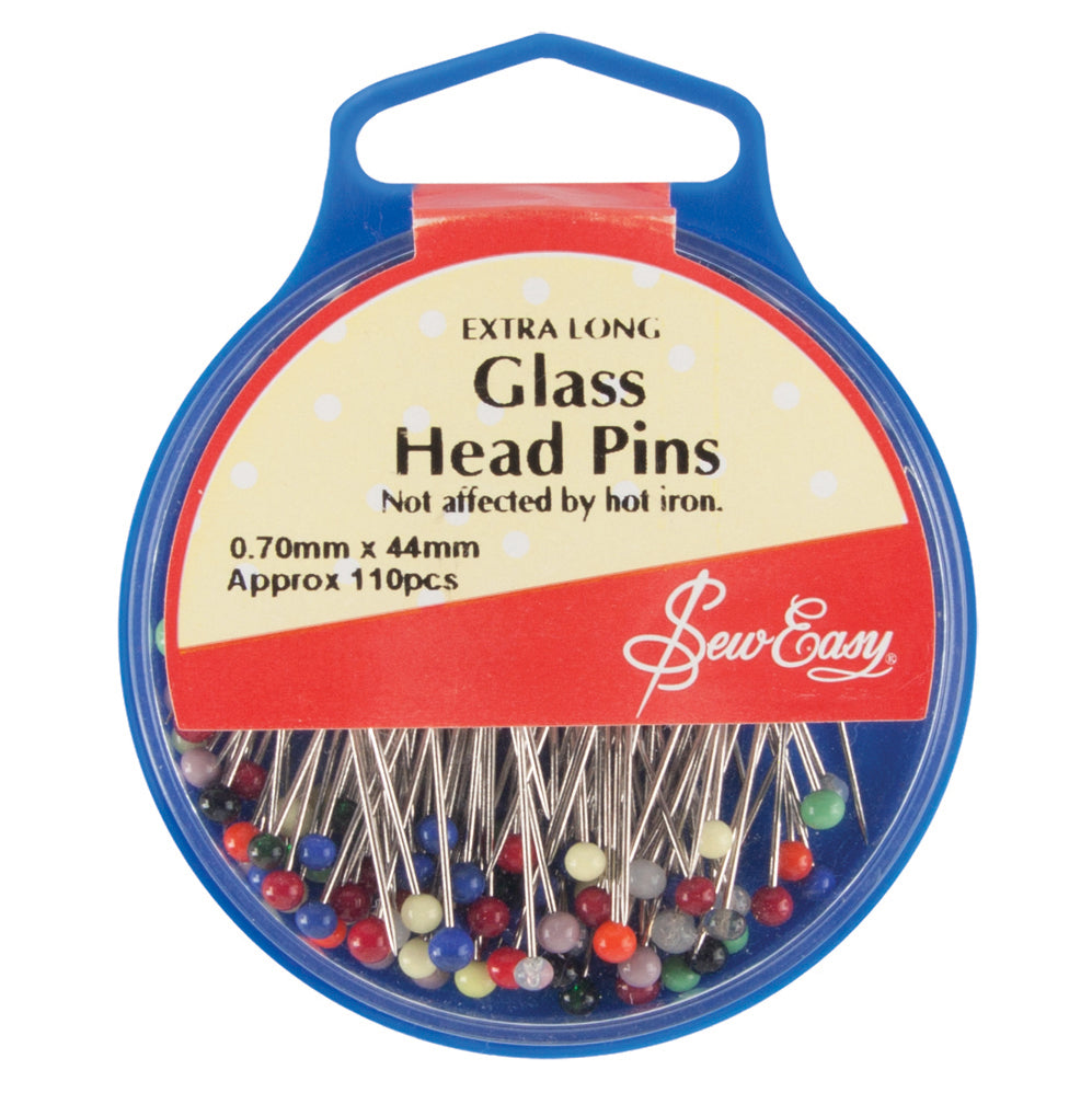 Sew Easy Extra Long Glass Head Pins