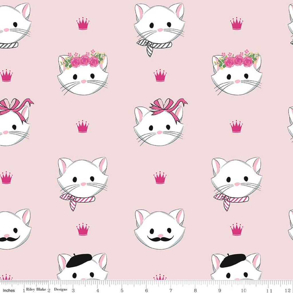 Riley Blake Chloe & Friends - Main Pink (metallic) - 100% Cotton Fabric