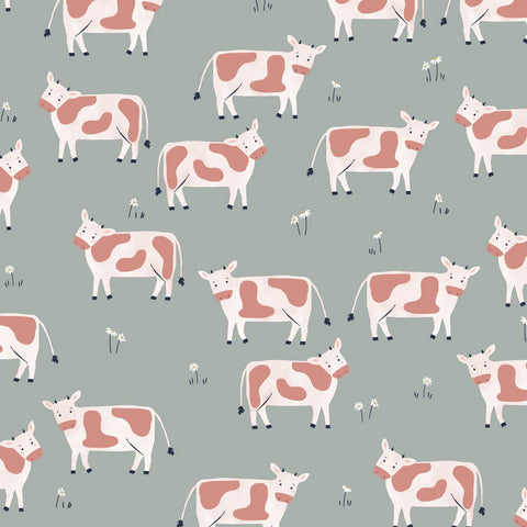 Dashwood Farm Days - Cows - 100% Cotton Fabric