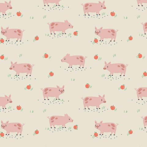 Dashwood Farm Days - Pigs - 100% Cotton Fabric