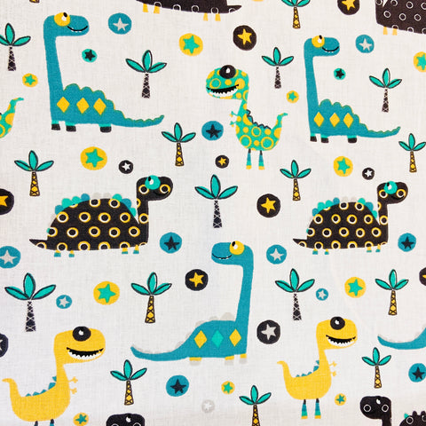 Dino Fun 100% Cotton Fabric