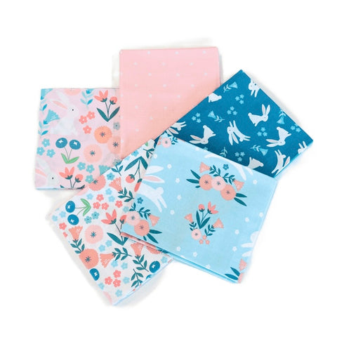3 Wishes Spring Bunny Fat Quarter Pack