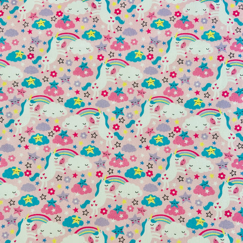 Mini Unicorns 100% Cotton Fabric
