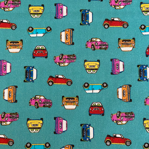 Mini Cars 100% Cotton Fabric