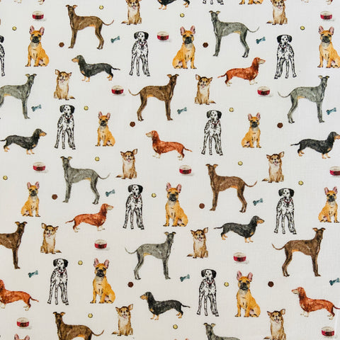 Mini Dogs 100% Cotton Fabric