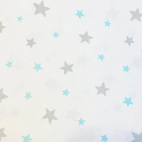 3 Wishes Goodnight - Stars White - 100% Cotton Fabric