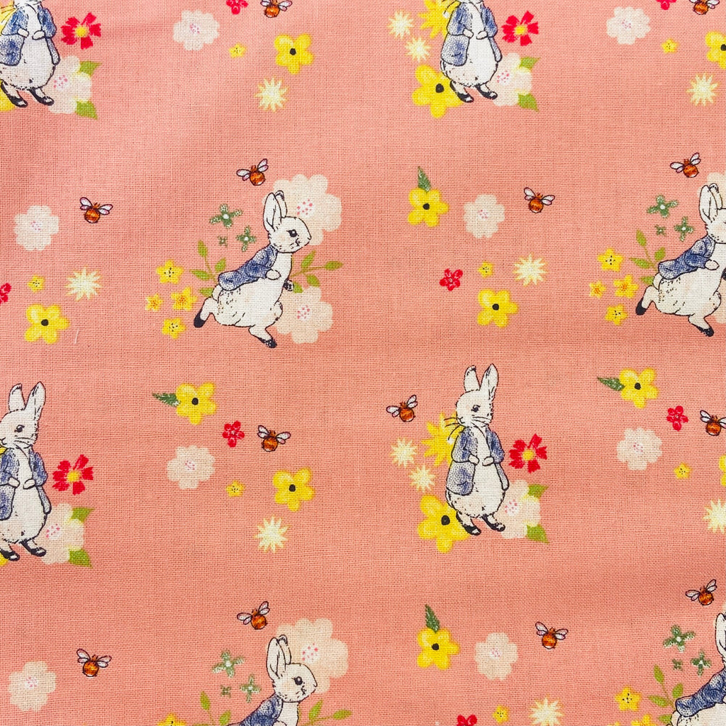 The Craft Cotton Co Peter Rabbit - Floral Bee - 100% Cotton Fabric