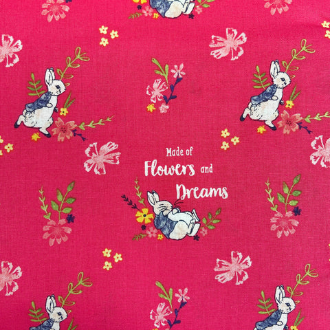 The Craft Cotton Co Peter Rabbit - Flowers and Dreams - 100% Cotton Fabric