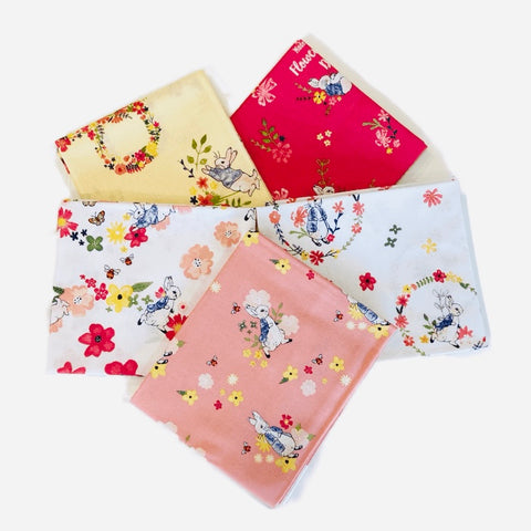 The Craft Cotton Co Peter Rabbit Flowers and Dreams Fat Quarter Pack