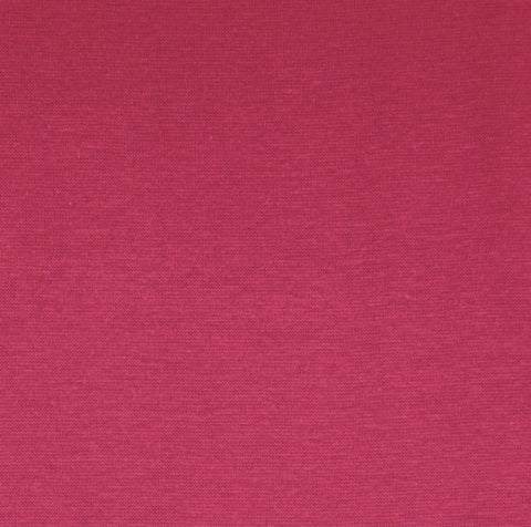 Bright Pink Plain Tubular Rib Jersey Cuffing Fabric