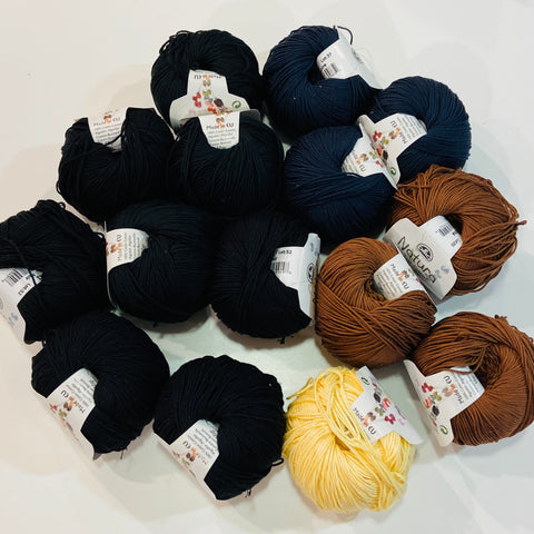 Bundle: DMC Natura Just Cotton 100% Cotton Yarn