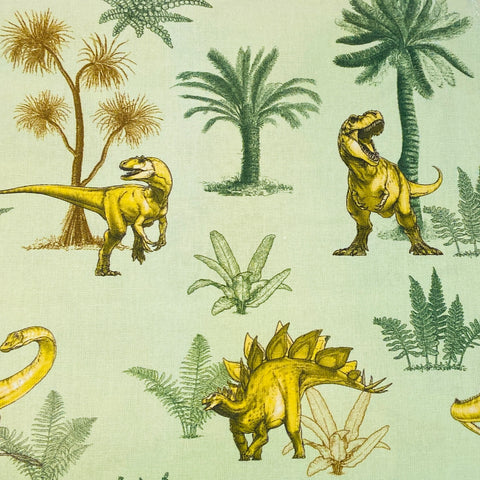 The Craft Cotton Co by Natural History Museum Age of the Dinosaurs - Dinosaur Foliage - 100% Cotton Fabric