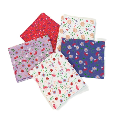 The Craft Cotton Co Cute Florals Fat Quarter Pack