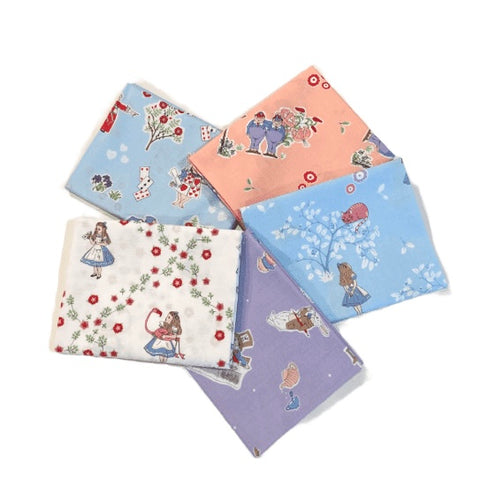 The Craft Cotton Co Alice in Wonderland Fat Quarter Pack