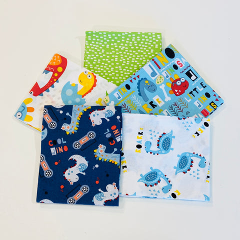 3 Wishes Little Dino Fat Quarter Pack