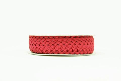 7mm Ric Rac Trim - Red