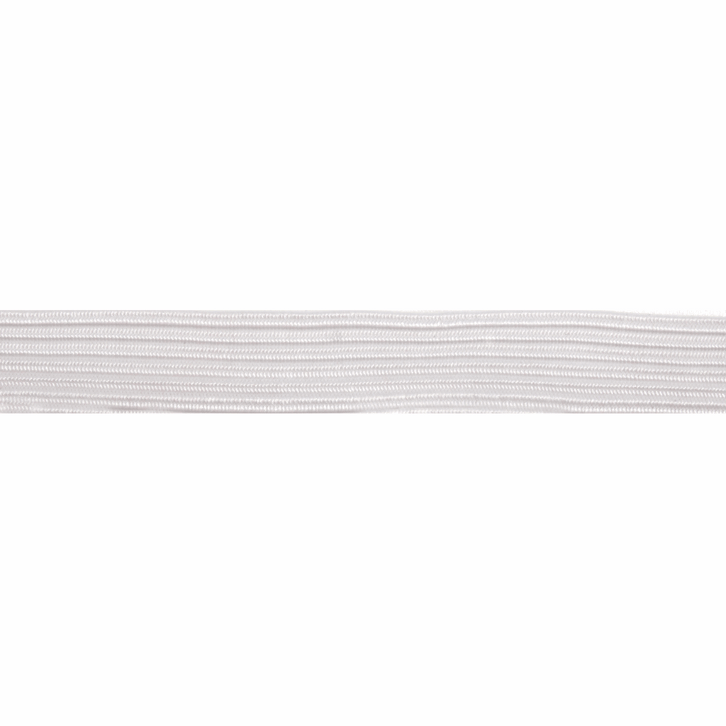 13mm Braided Elastic - White