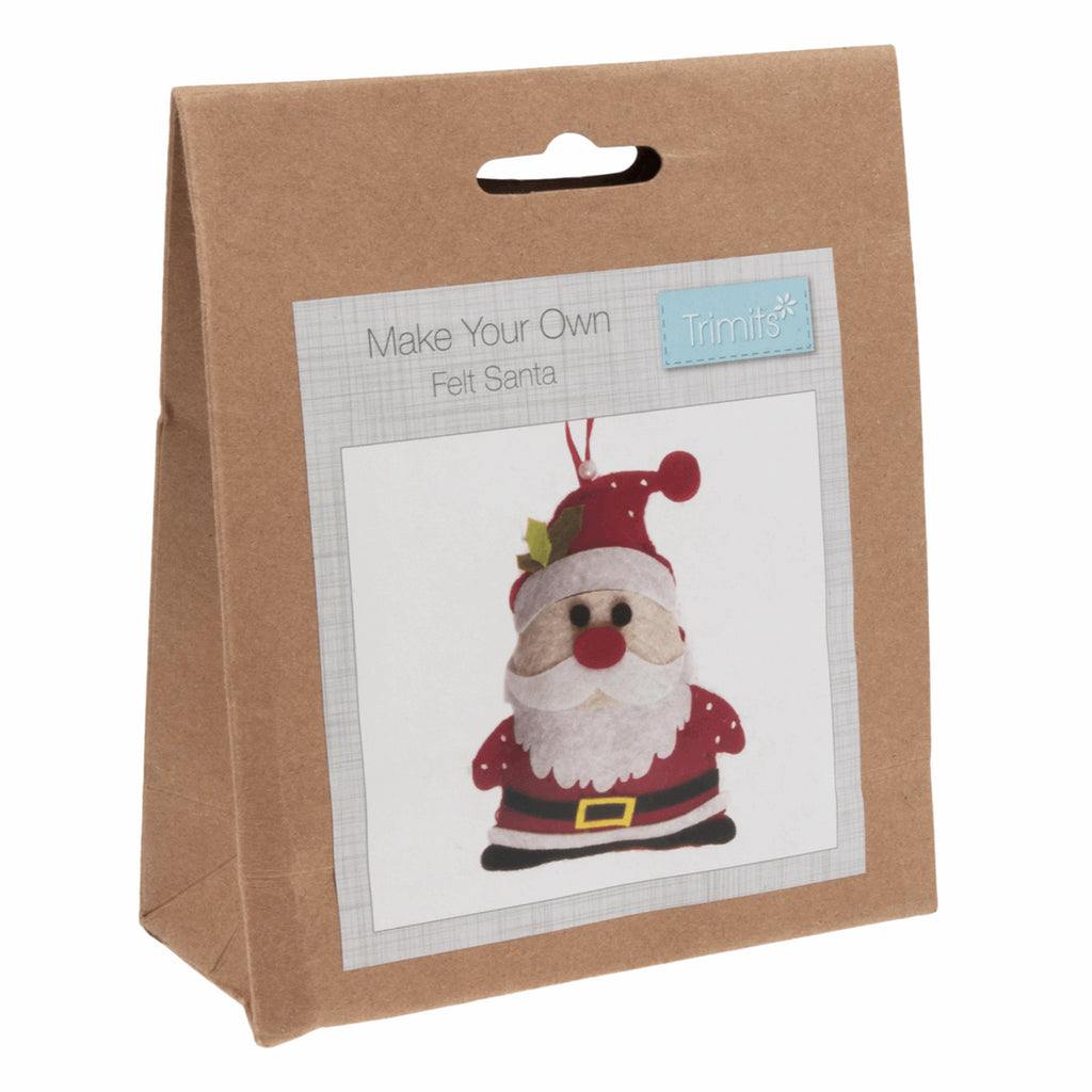Trimits Felt Santa Christmas Decoration Kit