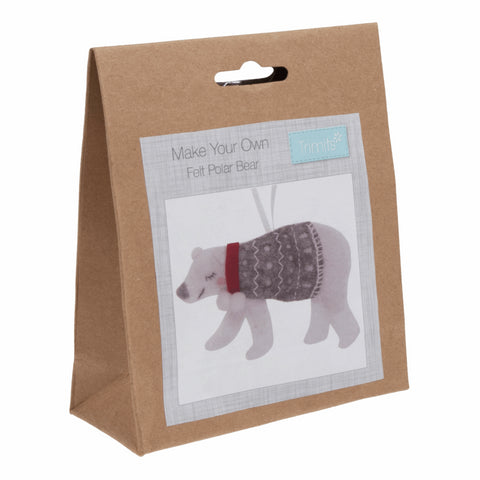 Trimits Felt Polar Bear Christmas Decoration Kit