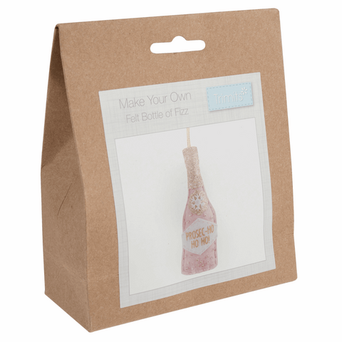 Trimits Felt Prosecco Bottle Christmas Decoration Kit