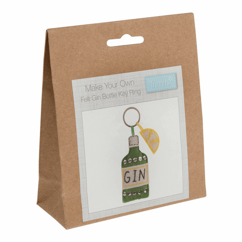 Trimits Felt Gin Bottle Key Ring Decoration Kit