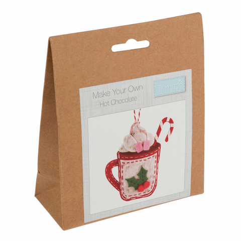 Trimits Felt Hot Chocolate Christmas Decoration Kit