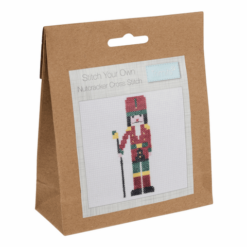 Trimits Festive Nutcracker Mini Counted Cross Stitch Kit