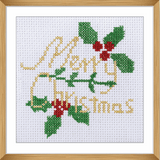 Trimits Merry Christmas Mini Counted Cross Stitch Kit