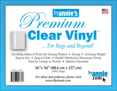 By Annie Premium Clear Vinyl 16in X 54in Pack