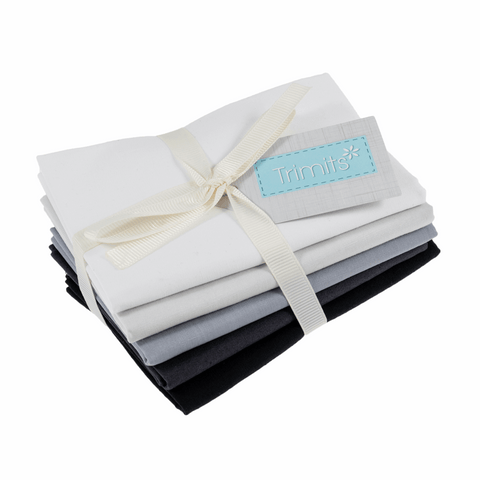 Trimits Monochrome Plains Fat Quarter Pack