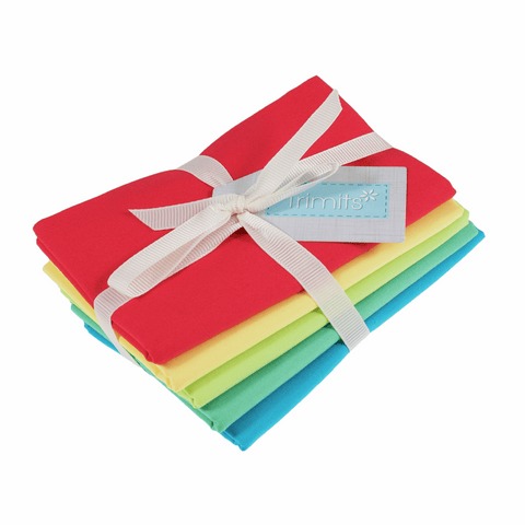Trimits Brights Plains Fat Quarter Pack