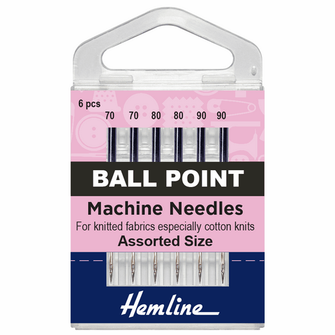Hemline Sewing Machine Needles - Ball Point Assorted