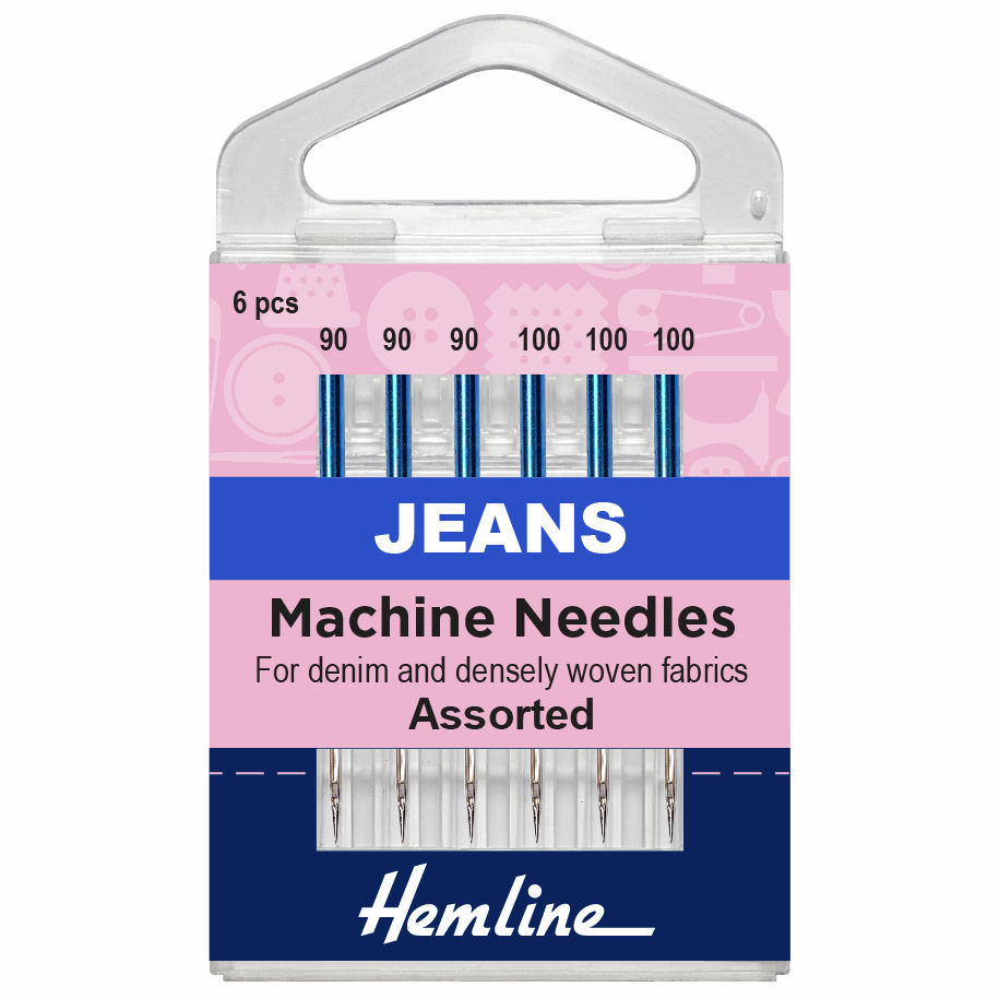 Hemline Sewing Machine Needles - Jeans Assorted