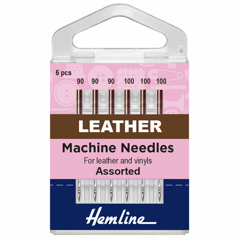 Hemline Sewing Machine Needles - Leather Assorted