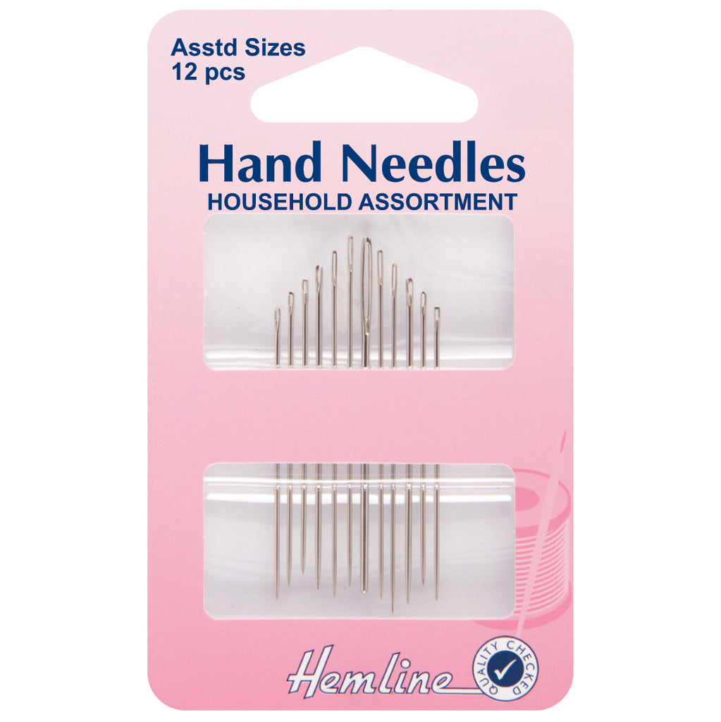 Hemline Assorted Household Needles 12pk