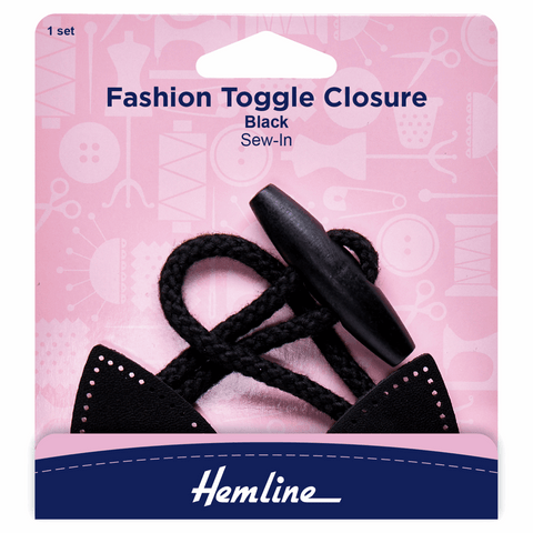 Hemline Black Fashion Toggle Closure Pack