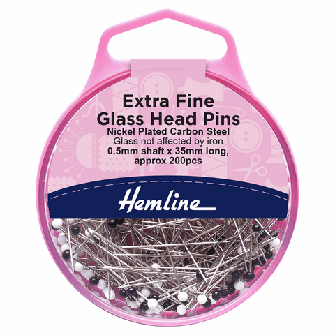 Hemline Extra Fine Glass Head Pins