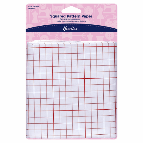 Hemline Squared Pattern Paper Pack