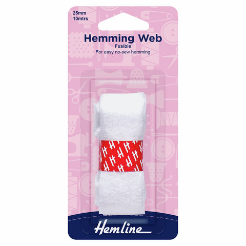 Hemline 25mm Fusible Hemming Web 10m